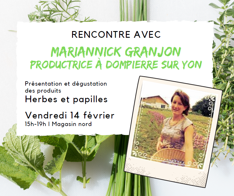 Rencontre avec Mariannick Granjon, productrice locale d'herbes aromaitques